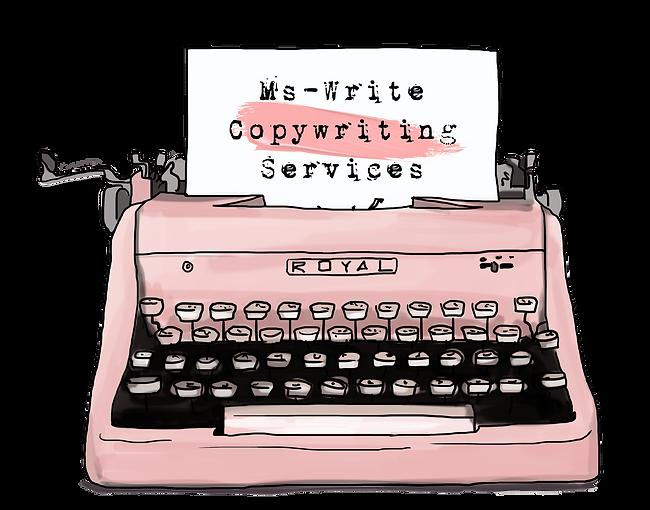 Pink Vintage Typewriter | Ms-Write Copywriting Services