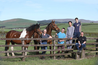 The Still Family with horses