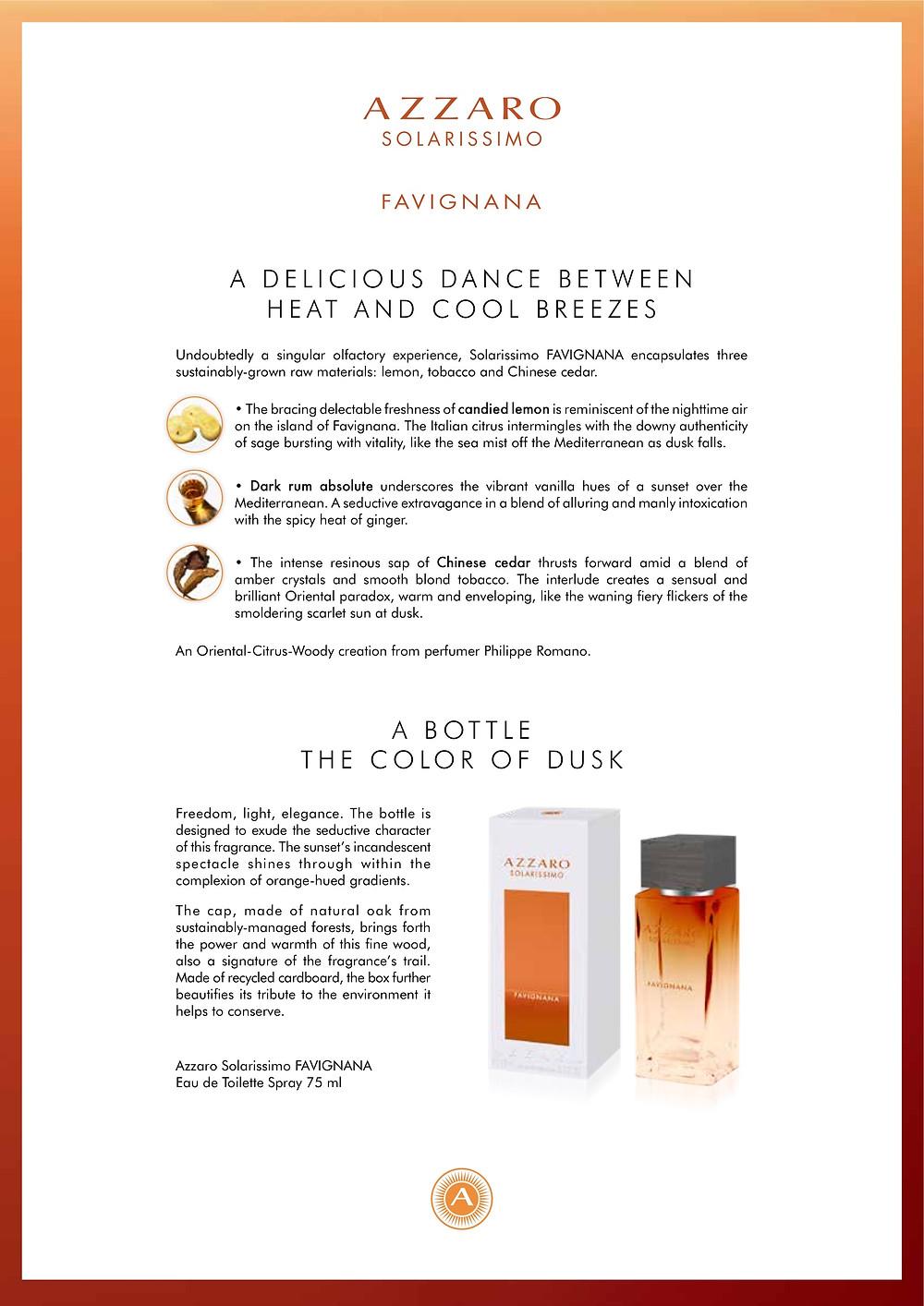 Azzaro Favignanan, A Delicious Dance Between Heat and Cool Breezes | Susan Santora | Copywriter