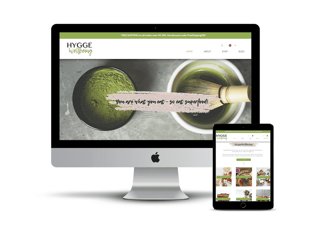 Hygge Wellbeing Web Design by AG Social Co