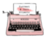 Pink Vintage Typewriter | Ms-Write Clients