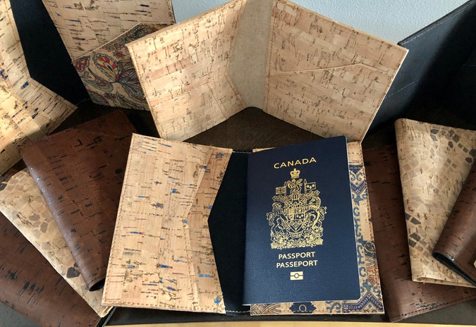 Practical cork passport covers
