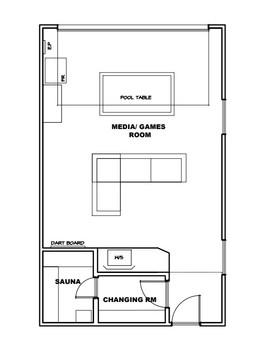 Cedar Bay Games Room Floorplan