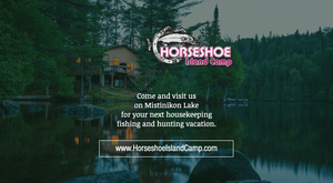 Horseshoe Island Camp - Social URL Share Graphic designed by AG Social Co