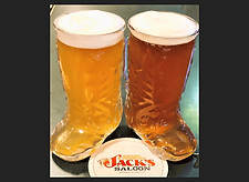 Glass Boot - 3 Fingered Jacks Saloon
