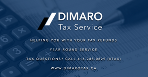 Dimaro Tax Service - Facebook URL Share Graphic designed by AG Social Co