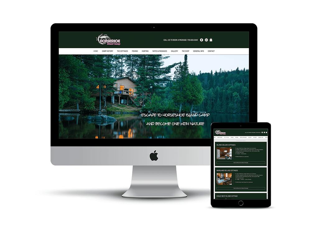 Horseshoe Island Camp web design by AG Social Co