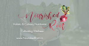Nourished Root - Social URL Share Graphic designed by AG Social Co