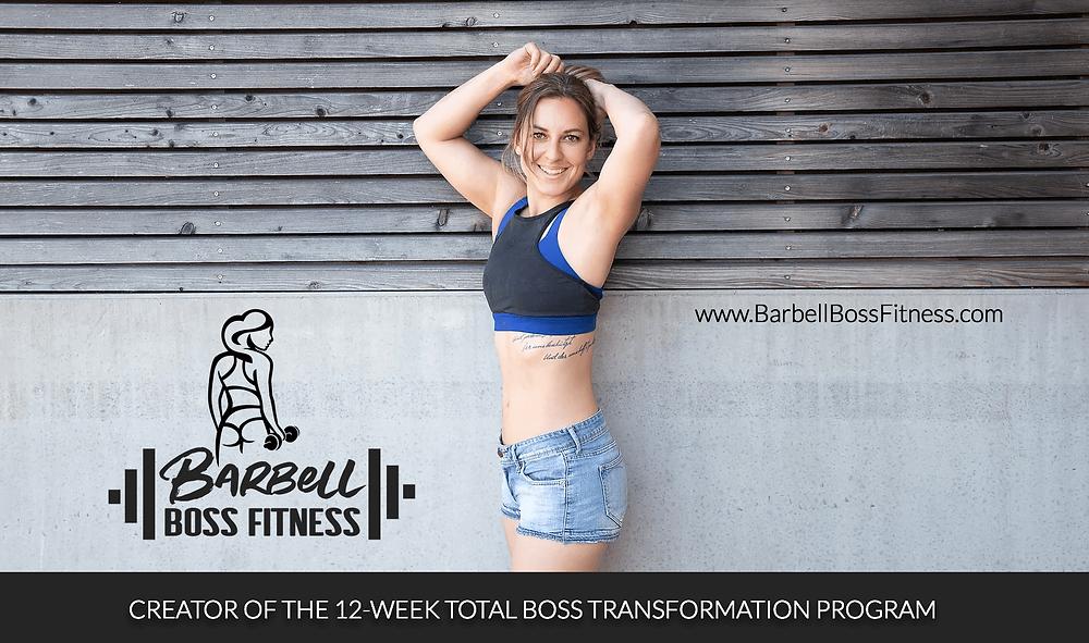 Barbell Boss Fitness - Newsletter header graphic designed by AG Social Co