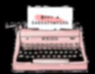 Pink Vintage Typewriter | Ms-Write Consultation