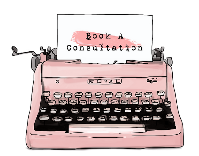 Pink Vintage Typewriter | Ms-Write Consultation