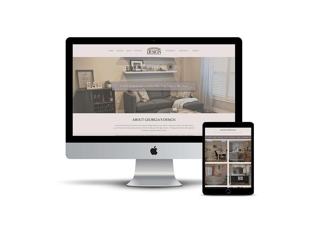 Georgia's Design web design by AG Social Co