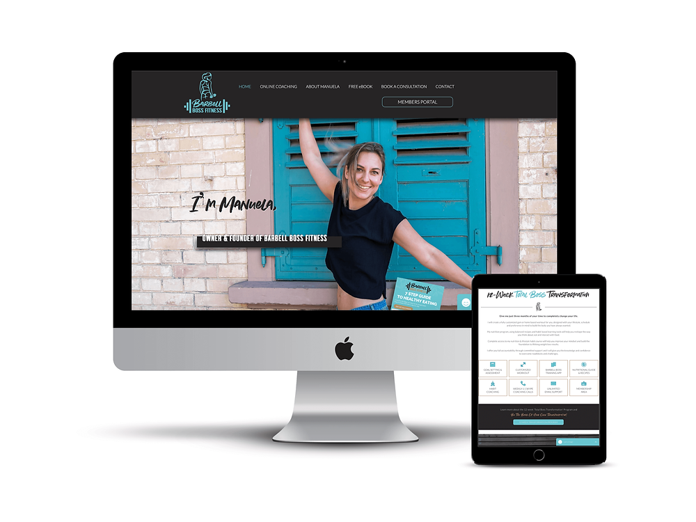 Barbell Boss Fitness web design by AG Social Co
