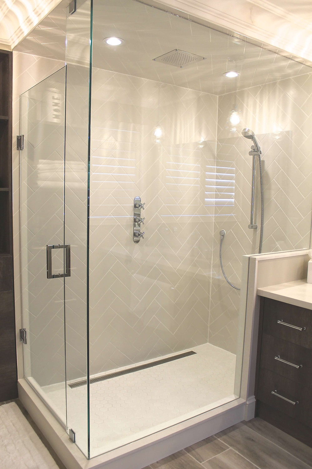 Glass shower oasis by Georgia's Design
