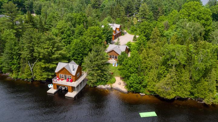 Muskoka Cottage with Boathouse and Coach House