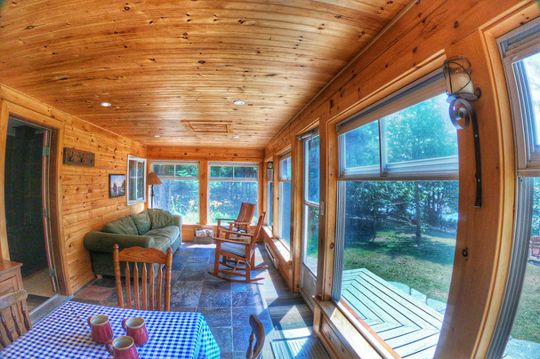 Cottage porch with a view