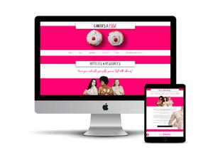 Cancer's A Bitch web design by AG Social Co