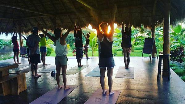Yoga in the GLO Yoga Hut