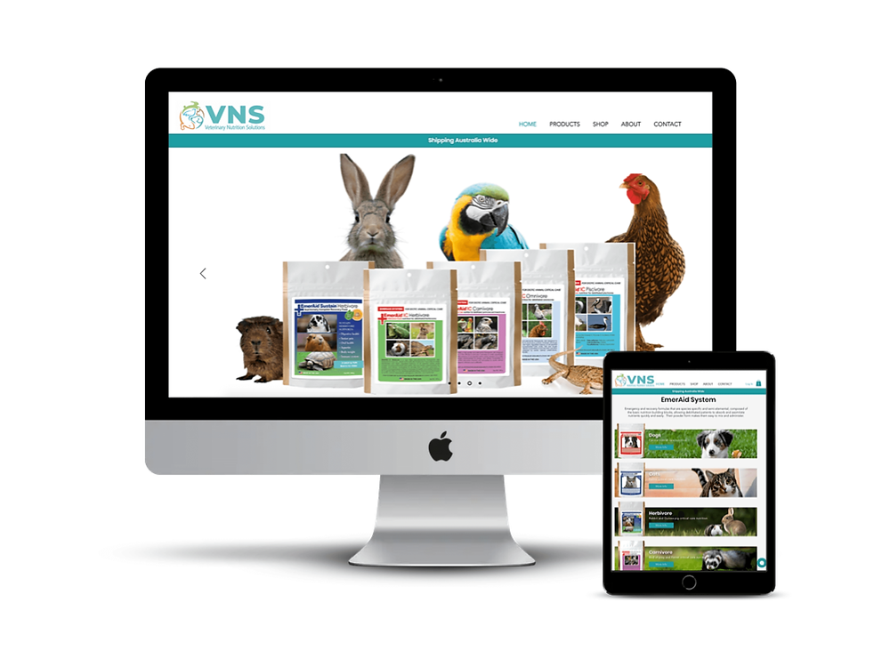 Vet Nutrition Solutions Web Design by AG Social Co
