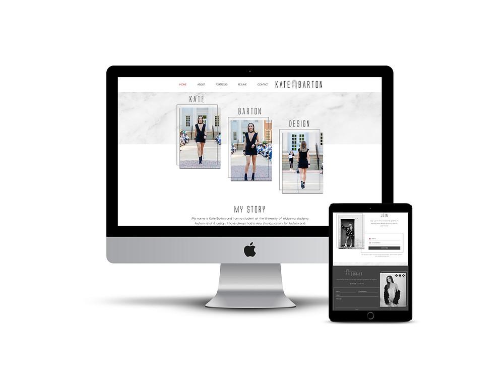 Kate Barton web design by AG Social Co