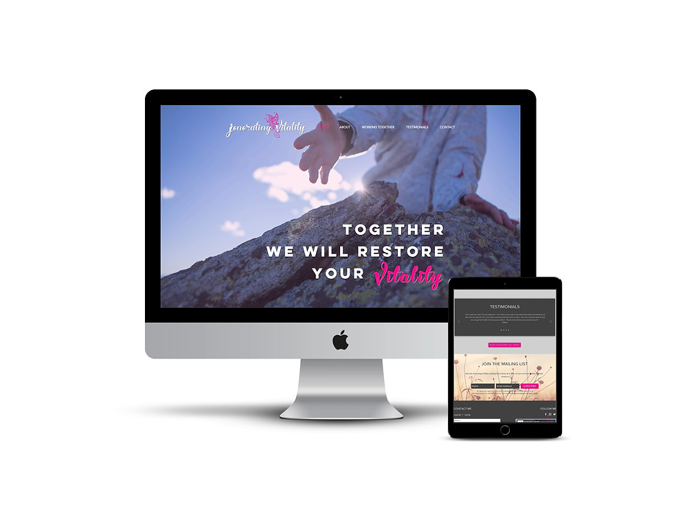 Jenerating Votality web design by AG Social Co