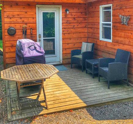 BBQ and Deck at Muskoka Cottage