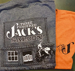 T-Shirt (unisex)_3 Fingered Jacks Saloon