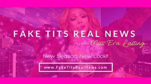 Fake Tits Real News - Facebook Cover Graphic by AG Social Co