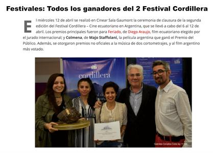 Cordillera Ecuadorian Film Festival 2017