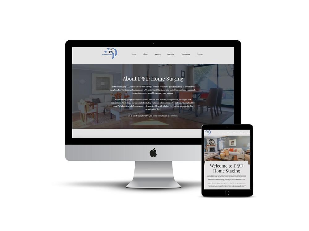 D&D Staging web design by AG Social Co