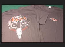 T-Shirt (mens) Grey Deerskull_3 Fingered