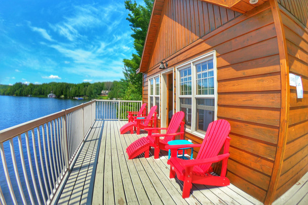 Gorgeous boathouse views from upper deck