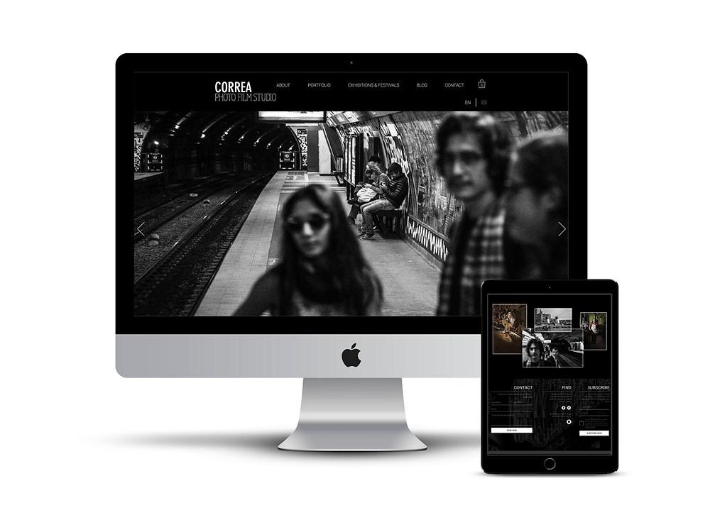 Correa Photo Studio web design by AG Social Co