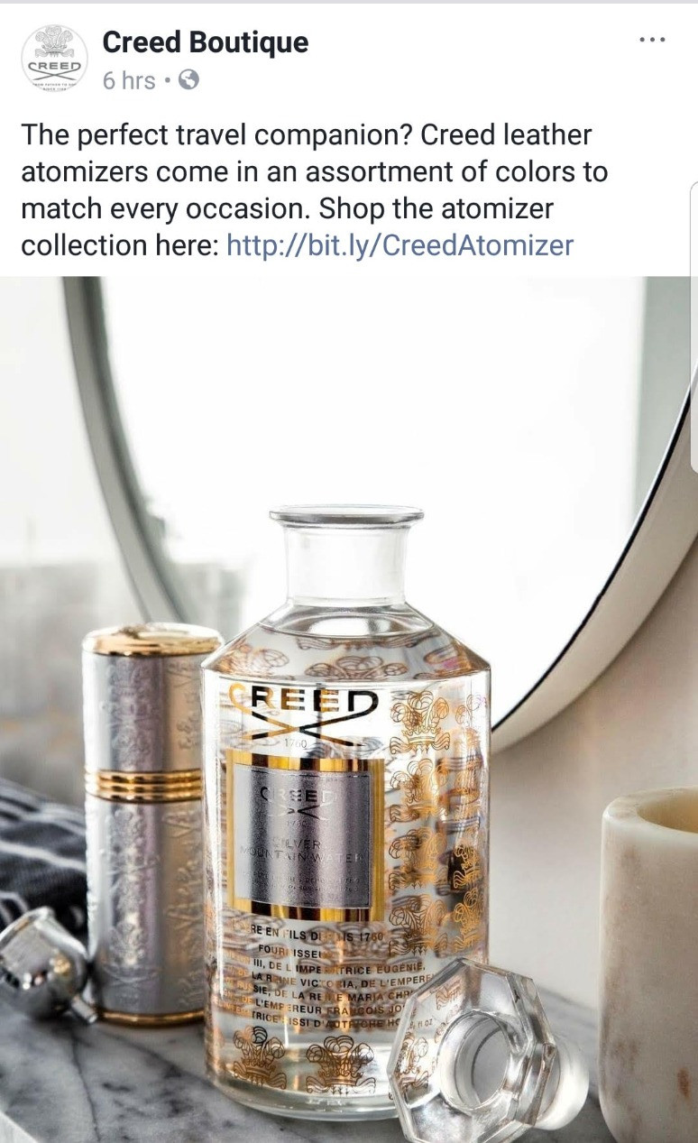Creed Boutique Gold Bottle Travel Companion | Susan Santora | Copywriter
