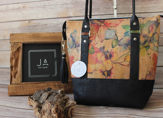 Stunning watercolour cork shoulder bag