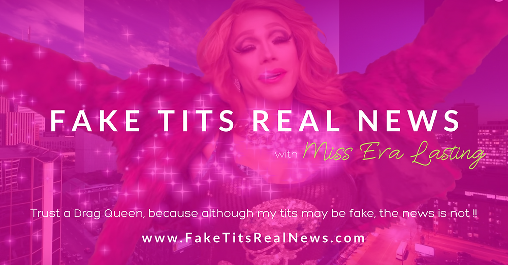 Fake Tits Real News - Facebook Share Graphic by AG Social Co
