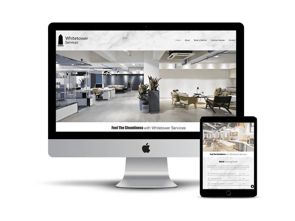 Whitetower Services Web Design by AG Social Co