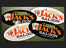 Car Sticker - 3 Fingered Jacks Saloon