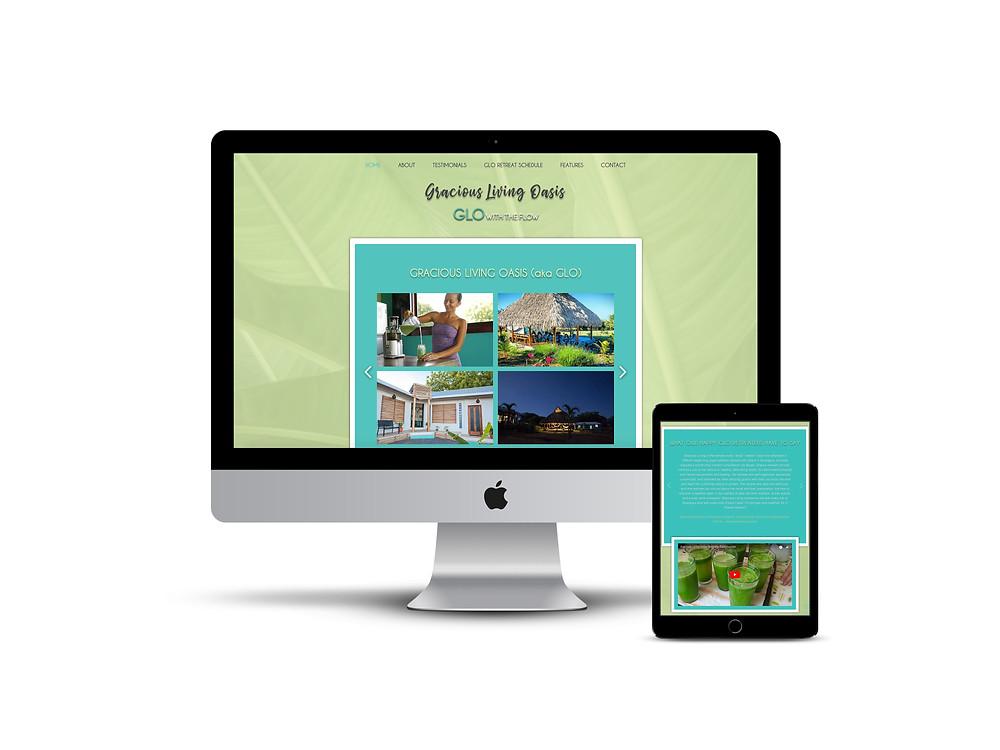 Gracious Living Oasis web design by AG Social Co