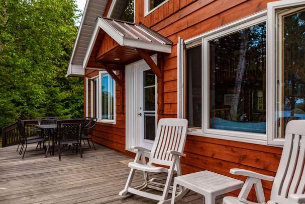 Waterfront Muskoka Cottage Deck