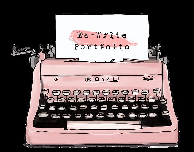 Pink Vintage Typewriter | Ms-Write Portfolio
