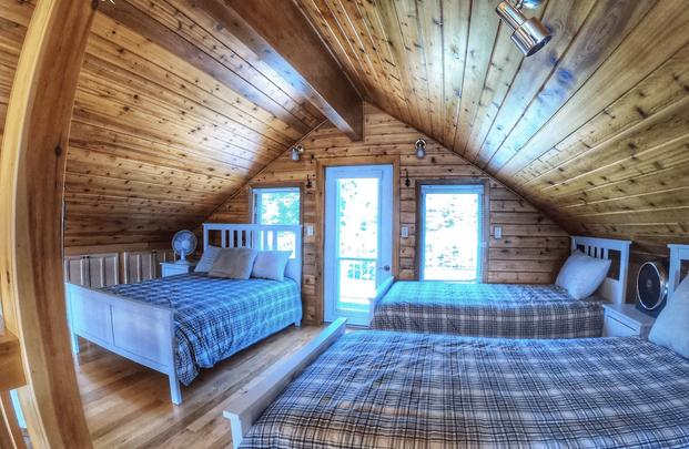 Waterfront Muskoka Cottage Bedroom