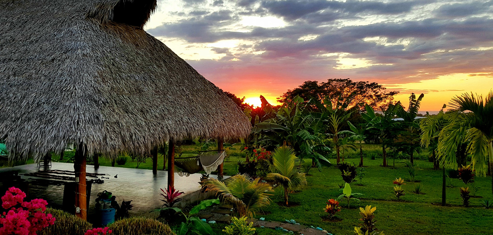 GLO Yoga Hut at Sunset