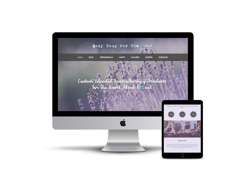Body Soup For The Soul web design by AG Social Co