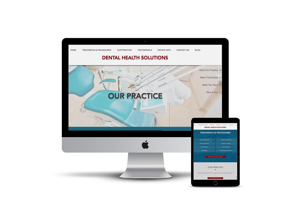 Dental Health Solutions web design by AG Social Co
