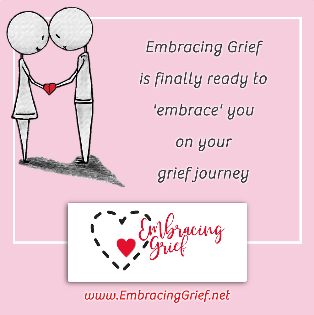 Embracing Grief - Social Media Post Graphic designed by AG Social Co