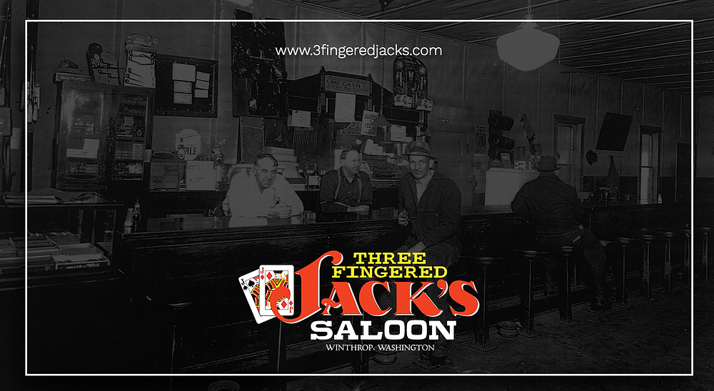 3 Fingered Jack's Saloon - Social URL Share Graphic designed by AG Social Co