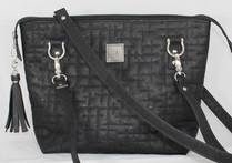 JUDI ANNE Cork Handbag - Black