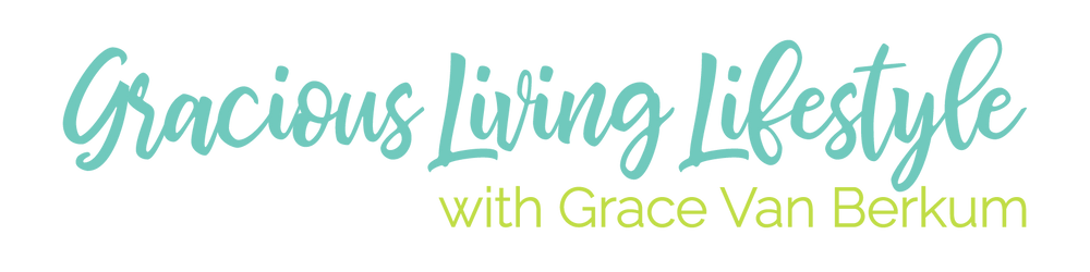 Gracious Living Lifestyle - text-based logo design by AG Social Co