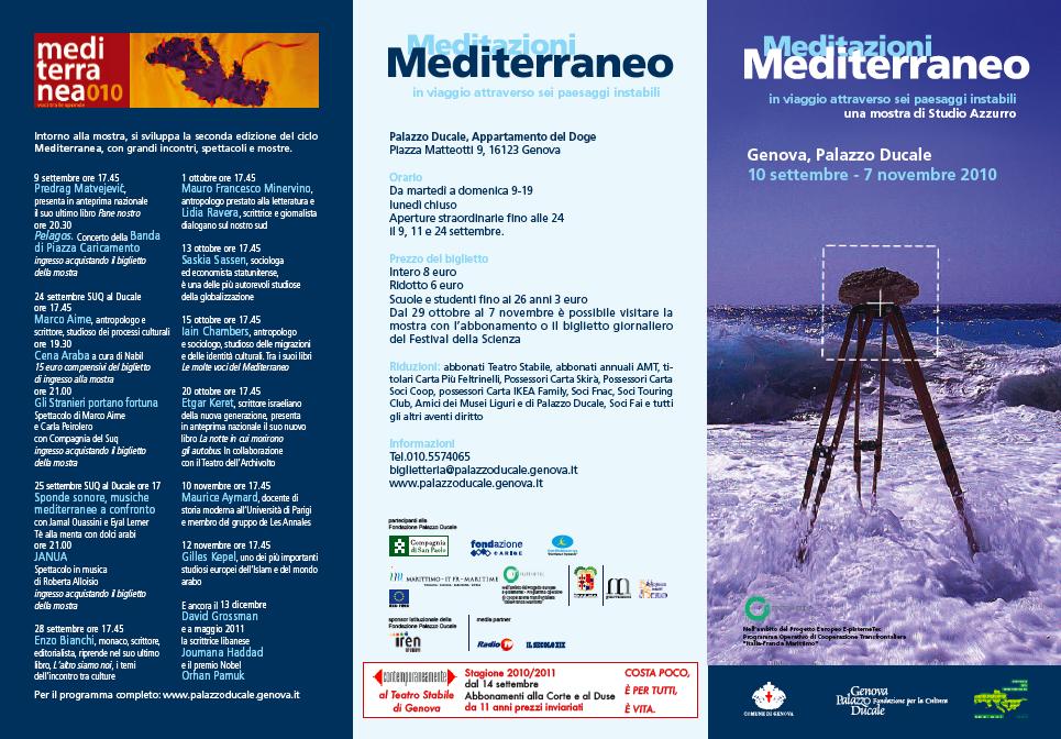 Meditazioni Mediterraneo, 2010